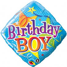 "Birthday Boy Stars Foil Balloon (18"") 1pc"